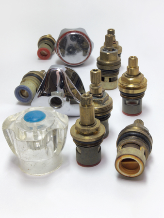 internals: Different handles for water faucets and mounted ceramic shut-off valves