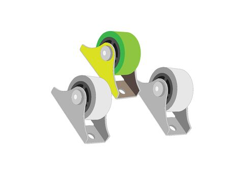 unattached: rollers for furniture. Wheels