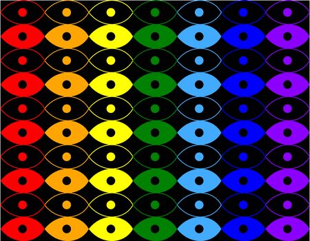 a pattern of circles and ellipses resembling eyes Illustration