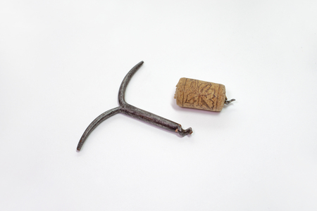 worm of simple corkscrew, broke off and stuck in the wine cork. Sharp end out