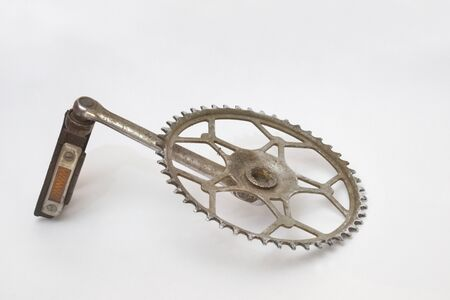 pedal old bike with very good reflector. aluminum sprocket. obsolete