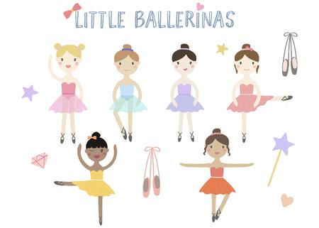 ClipArt vettoriali di piccole ballerine Archivio Fotografico - 94528671