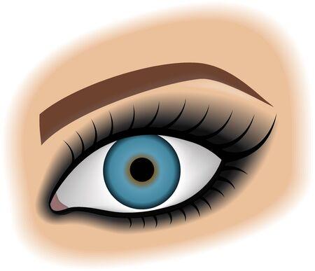 Eye with make up smoky eyes