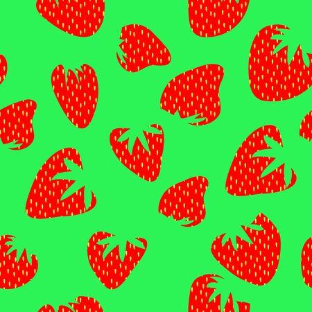 strawberry seamless pattern