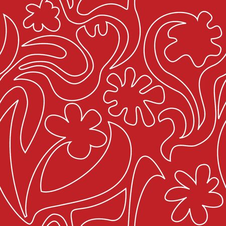 pattern red  flowers