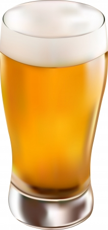 glass of beer Stock Vector - 14482523