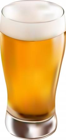 beer pint: glass of beer Illustration