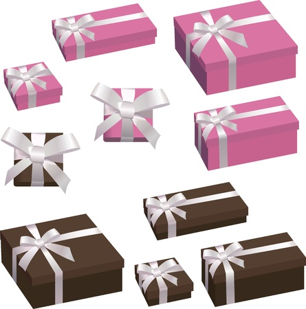 festive box with a bow Stock Vector - 15506325