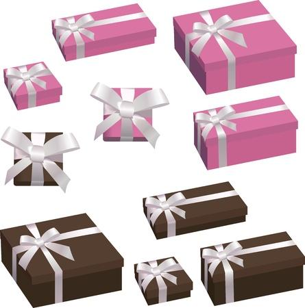 festive box with a bow
