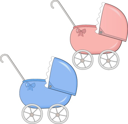 buggy: baby stroller Illustration