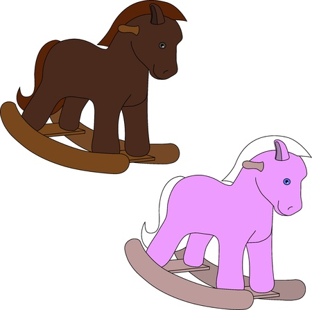 pony tail: toy horse Illustration
