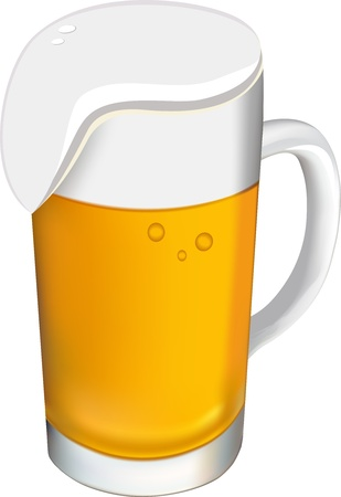 taverns: Beer glass on a white background