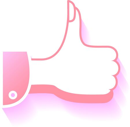 womens thumbs up with shadow Stock Vector - 15472000