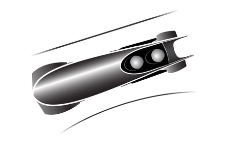 bobsleigh icon in grey Stock Vector - 16103488