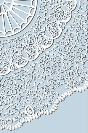 crocheted lace background Vector