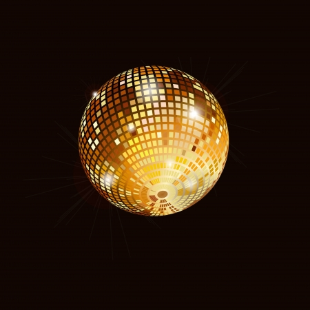 Isolated disco mirror ball