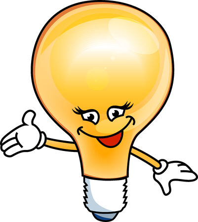 Smiley bulb electric isolated on white background