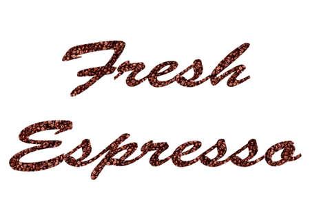stimulated: Fresh Espresso Sign or Background - Coffee Bean