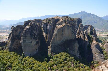 thessaly: meteora mountain Stock Photo