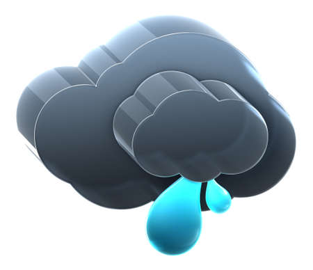 Cloud with light rain. Hi-res 3D rendered icon Stock Photo - 8308898