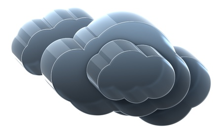 heavy: Very heavy cloud. Hi-res 3D rendered icon