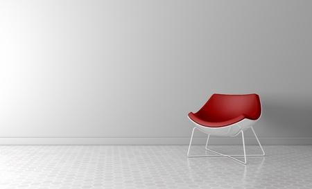 Modern interieur ruimte Hoge resolutie 3D rendering Stockfoto