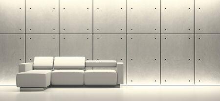 Modern interior space  High resolution 3D rendering