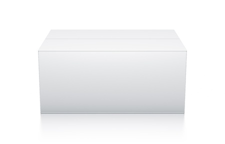 White box. High resolution 3D illustration  illustration