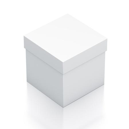 Caja blanca. Ilustración 3D de alta resolución Foto de archivo - 12948273