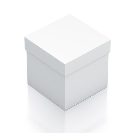 White box. High resolution 3D illustration