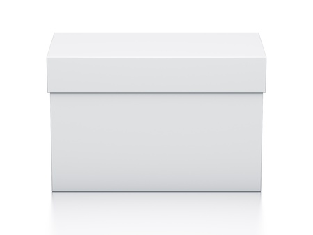 White box. High resolution 3D illustration with clipping paths.  Stock Photo