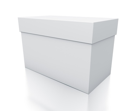 White box. High resolution 3D illustration