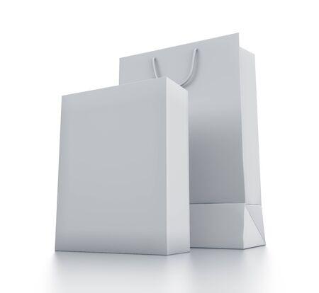 Various white boxes. High resolution 3D illustration  illustration