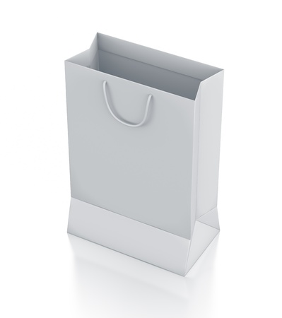White bag. High resolution 3D illustration