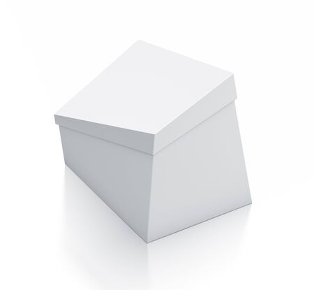 trapezoid: White box. High resolution 3D illustration