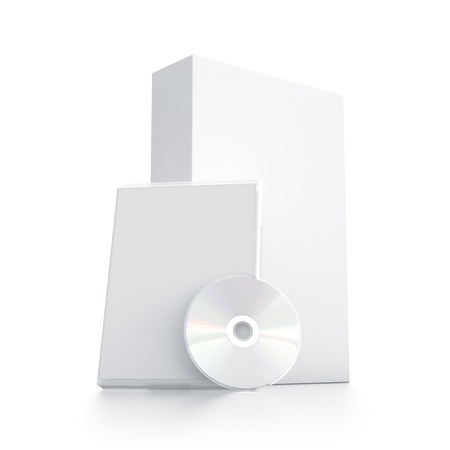 White package with CD - DVD  High resolution 3D illustration