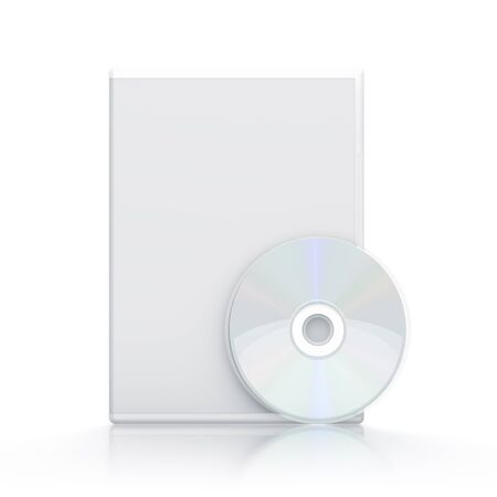 White package with CD - DVD  High resolution 3D illustration  illustration