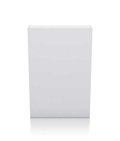Rectangle white box  High resolution 3D illustration  Stock Photo