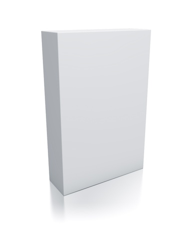 Rectangle white box  High resolution 3D illustration
