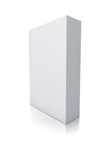 Rectangle white box  High resolution 3D illustration  Stock Photo