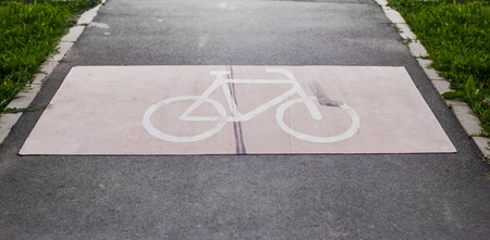 Bike route. High resolution photo. photo