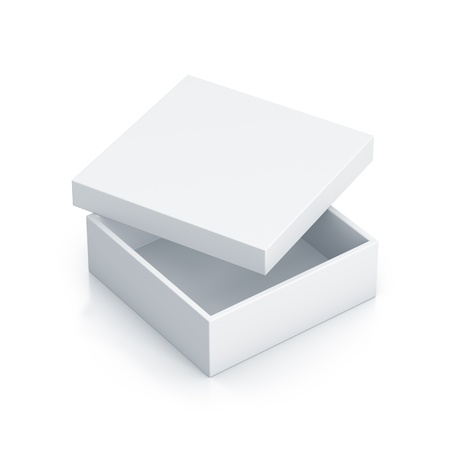 White tall box. High resolution 3D illustration  Stock Photo