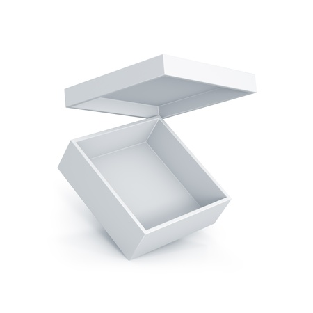 White short box. High resolution 3D illustration