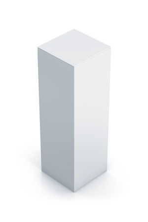 White tall box. High resolution 3D illustration illustration