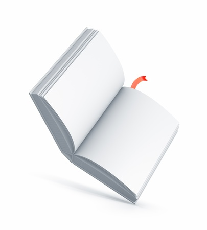 White Book. High resolution illustration isolated on white. Stock Illustration - 14848128