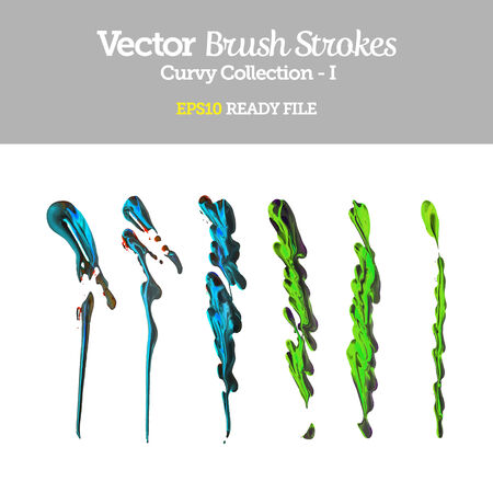 Vector Brush Strokes Collection