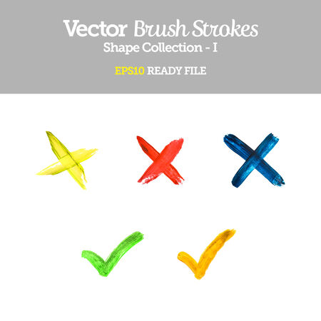 Vector Brush Strokes Collection  Vector