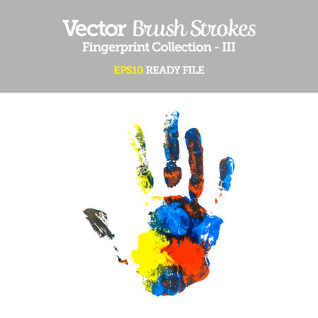 Vector Colorful Hand Shape  Vector