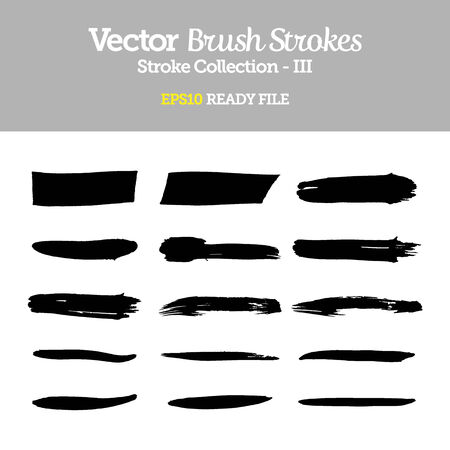 brush strokes: Vector Brush Strokes Collection