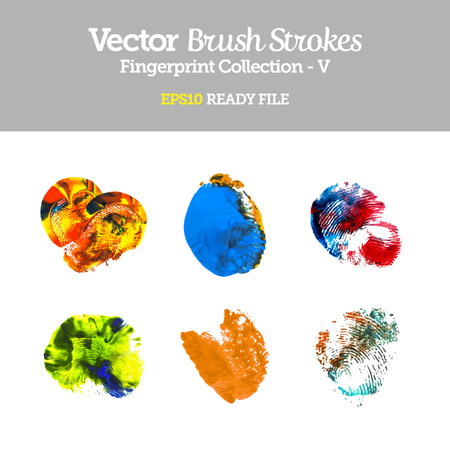 Vector Colorful Fingerprint Collection EPS10 Ready File Vector